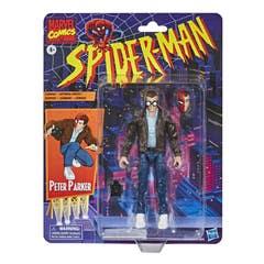 Hasbro Marvel Legends Series Spider-Man - Figura coleccionable de Peter Parker de 15 cm - Colección Retro