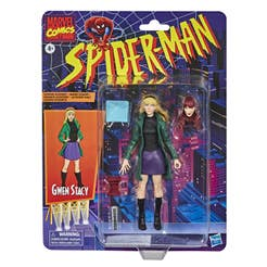 Hasbro Marvel Legends Series Spider-Man - Figura coleccionable de Gwen Stacy de 15 cm - Colección Retro