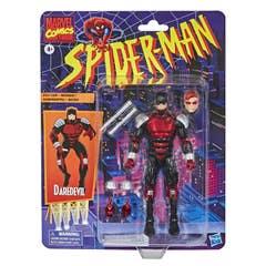 Hasbro Marvel Legends Series Spider-Man - Figura coleccionable de Daredevil de 15 cm - Colección Retro