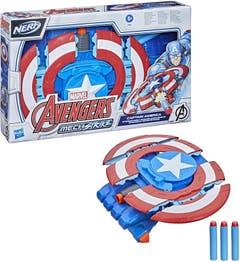 Hasbro Nerf Marvel Avengers Mech Strike Capitán América Escudo de Ataque F0265