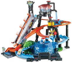 Hot Wheels City Autolavado Ataque de Lagarto