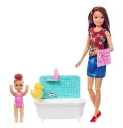 Barbie Familia Play Babysitter