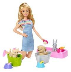 Barbie Familia Baño de Mascotas