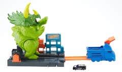 Hot Wheels City Pista Triceratops Destructor