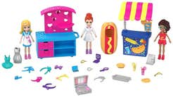 Polly Pocket Carritos de moda y comida