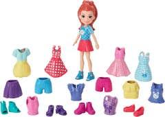 Polly Pocket Colección de Modas de Franela Lila
