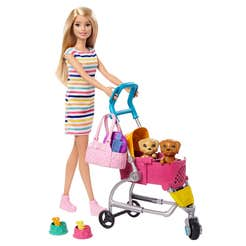 Barbie Sisters & Pets Carriola de Perritos