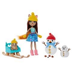 Enchantimals Muñeco de Nieve con Sharlotte Squirrel y Walnut