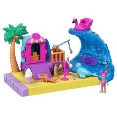Mattel Polly Pocket Conjunto de Aventuras Pollyville Playa y Sol GTM66