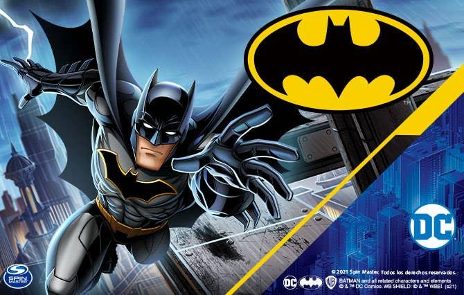 Bienvenido a la Tienda Oficial Spin Master en Juguetron, diviértete como nunca con los productos de Batman que tenemos para ti y pasa horas de entretenimiento inigualables.