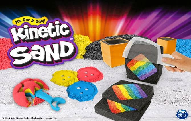 Bienvenido a la Tienda Oficial Spin Master en Juguetron, diviértete y crea con Kinetic Sand y pasa horas de entretenimiento inigualables.