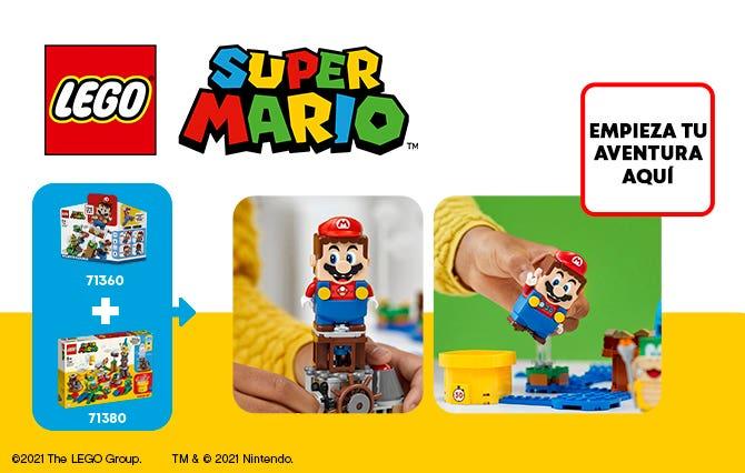 ¡Disfruta de tu personaje favorito en el mundo real con los juegos LEGO Super Mario! Empieza con el set Pack Inicial  que puede reaccionar de numerosas maneras al enfrentarse a los enemigos y recoger monedas. Reorganiza el recorrido y combina los sets.