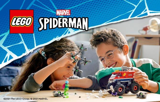 ¡Construye algo extraordinario y conviértete en tu superhéroe favorito con los sets Marvel! Forma equipo con otros personajes Marvel legendarios y participa en peligrosas misiones para derrotar a los supervillanos.